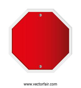 red traffic sign icon