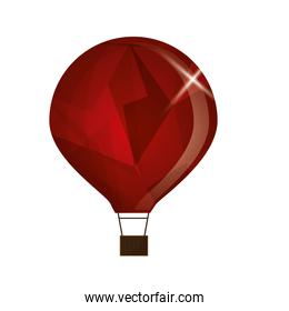 red textured hot air balloon icon