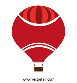 red hot air balloon icon