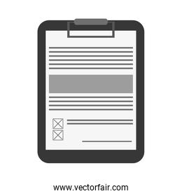 clipboard with document icon