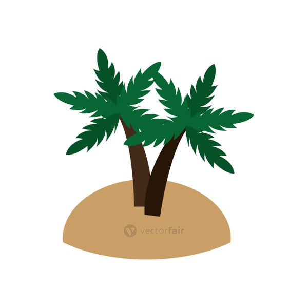 island and palm trees icon