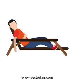 man sleeping on bench icon