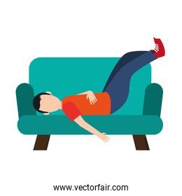 man sleeping on sofa icon