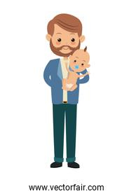 man carrying baby icon