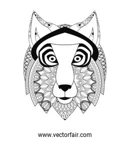 Tribal wolf icon