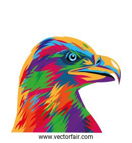 colorful eagle drawing icon