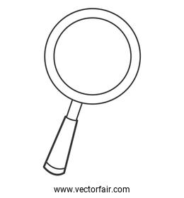 cartoon magnifying glass icon