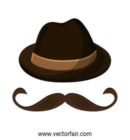 hat and mustache icon