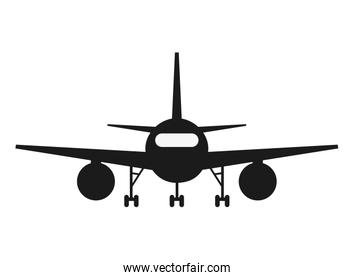 single airplane frontview Icon