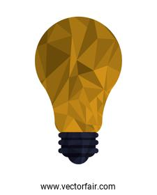 regular lightbulb with polygon texture icon