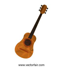 polygon texture acoustic guitar icon