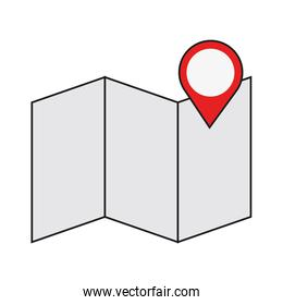 map with gps pin icon