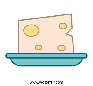 cheese on plate icon