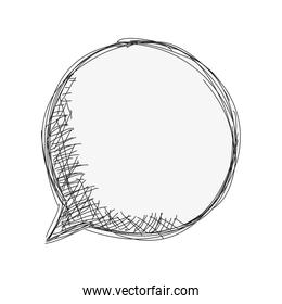 sketch conversation bubble icon