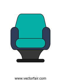 single cushioned chair icon