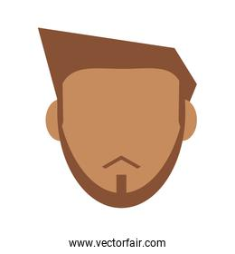 bearded faceless man icon