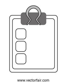 clipboard with check list icon