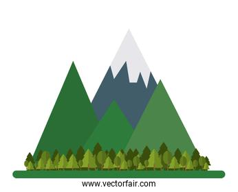 mountains and forest icon