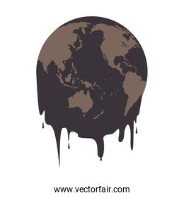 earth oil melting icon