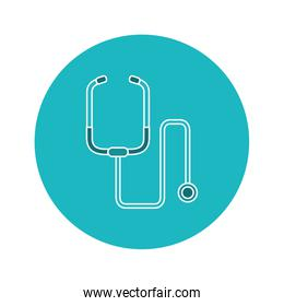 single stethoscope icon