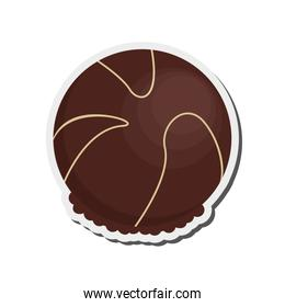 decorated candy chocolate icon