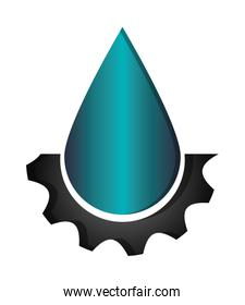 water drop and gear icon
