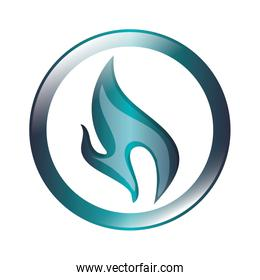 blue flame icon
