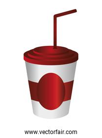 soft drink disposable cup icon