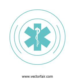 medical asclepius rod icon