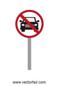 car restriction street sign icon