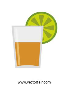 tequila shot with lime icon