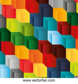 abstract cube pattern background design