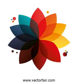 abstract geometric flower icon