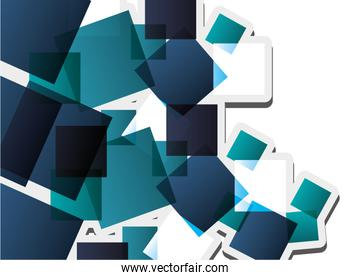 abstract square pattern background design