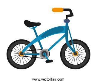 single blue bike icon