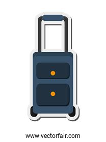travel suitcase with wheels icon