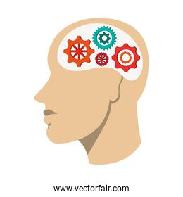 human head with gears icon