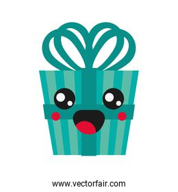 kawaii gift box icon