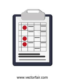 clipboard and document icon