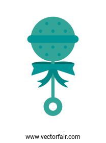 baby toy rattle icon