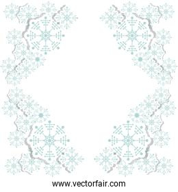 snowflake decoration chistmas design
