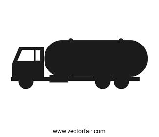 Fuel tanker truck or cistern truck icon