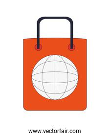 shopping bag global icon