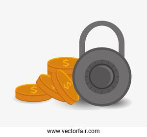 safety lock with coins system security design