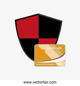 shield with credit card system security design