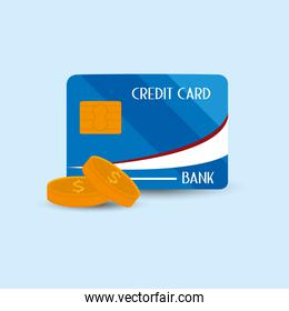 credit card and coins icon