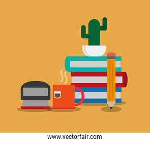 books office related items icon