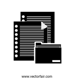 documents and file folder icon
