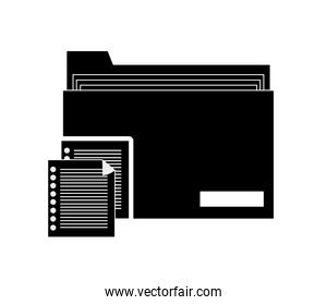 file folder and documents icon