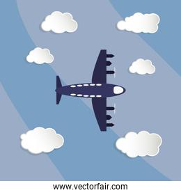 flying airplane image